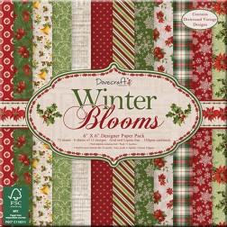 Papeles Scrapbooking Winter Blooms (15 x 15)