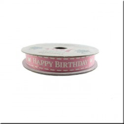 Cinta Grosgrain Rosa Happy Birthday Couture du Jour