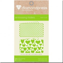 Carpetas Embossing Heart and Dot Diamond Press