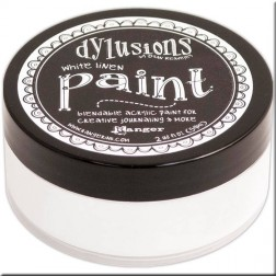 Dylusions Paint White Linen