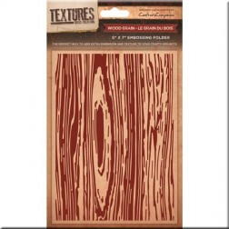 Carpeta Embossing - Wood Grain (12,5x17,5cm)
