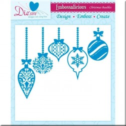 Carpeta Embossing Die'sire Christmas Baubles