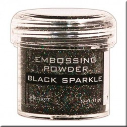 Polvo Embossing - Black Sparkle