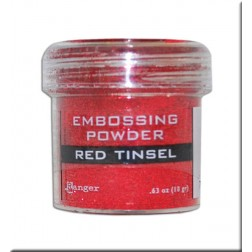 Polvo Embossing - Red Tinsel