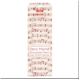 Papel Deco Maché - Red Music Notes