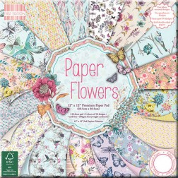Papeles Scrapbooking - Paper Flowers  (30x30)