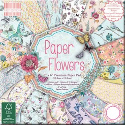 Papeles Scrapbooking - Paper Flowers  (15x15)