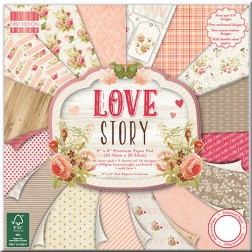 Papel Scrapbooking - Love Story (20 x 20)