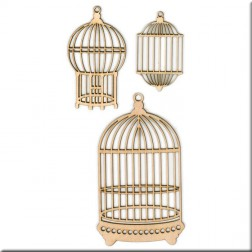 Siluetas Bird Cages KaiserCraft
