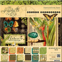 Papeles Scrapbooking Nature Sketchbook (20x20)
