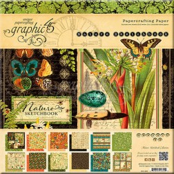 Papeles Scrapbooking Nature Sketchbook (30x30)