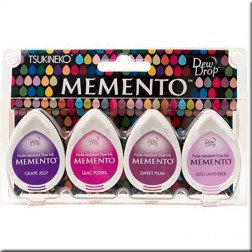 4 Tintas Memento Drew Drop - Juicy Purples