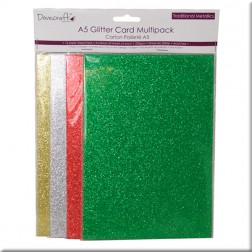 Papeles Colores Glitter A5 - Dovecraft