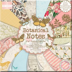 Papeles Scrapbooking - Botanical Notes (15 x 15)