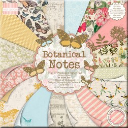 Papeles Scrapbooking - Botanical Notes (30 x 30)