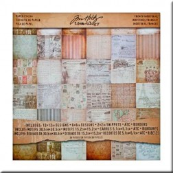 Papeles Scrapbooking - French Industrial