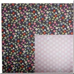 Papel Scrapbooking Flores de colores