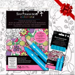 Pack Ahorro Block y Rotuladores Colorista Exquisite Florals Set 4