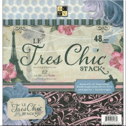 Papeles Scrapbooking Le Tres Chic Stack (30x30)