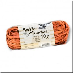 Rafia Natural color Naranja (50grs)