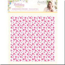 Carpeta Embossing Scatteres Dots Birthday Party