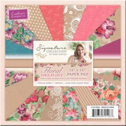 Papeles Scrapbooking Floral Delight (30x30)