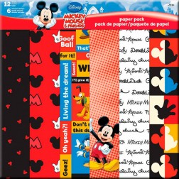 Papeles Scrapbooking - Mickey Mouse & Friends 12P(30x30)