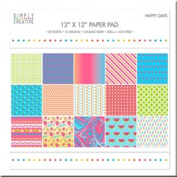 Papeles Scrapbooking Happy Days (30x30)