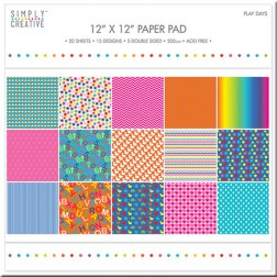 Papeles Scrapbooking Play Days (30x30)