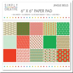 Papeles Scrapbooking Jingle Bells (15x15)