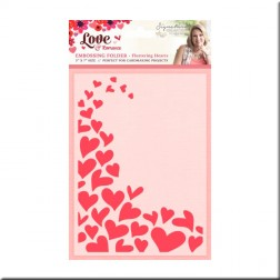 Carpeta Embossing Fluttering Heart Love and Romance