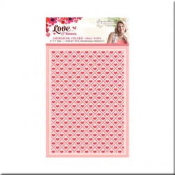 Carpeta Embossing Heart Trellis Love & Romance