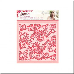 Carpeta Embossing Romantic Swirls Love & Romance