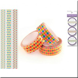 Set 3 Washi Tape - Tonos Rosa y Azul