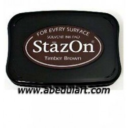 Tampón Stazon Marrón (Timber Brown)