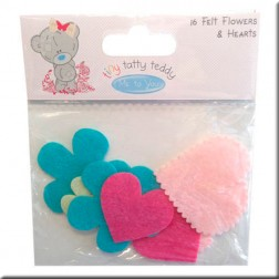 Flores y Corazones de Fieltro - Tiny Tatty Teddy Girl