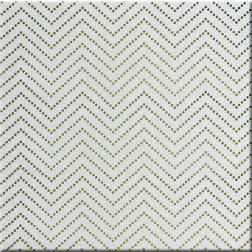 Acetato transparente Chevron Dot Gold (30,5 x 30,5)