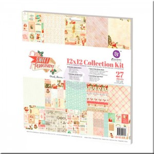 Kit Colección Scrapbooking Sweet Peppermint (30x30) Prima