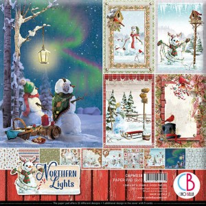 Papeles Scrapbooking Northern Lights (30x30)