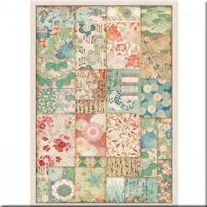 Papel de Arroz Patchwork Stamperia (A4)