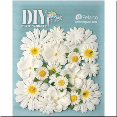 Flores de Papel DIY Paintables