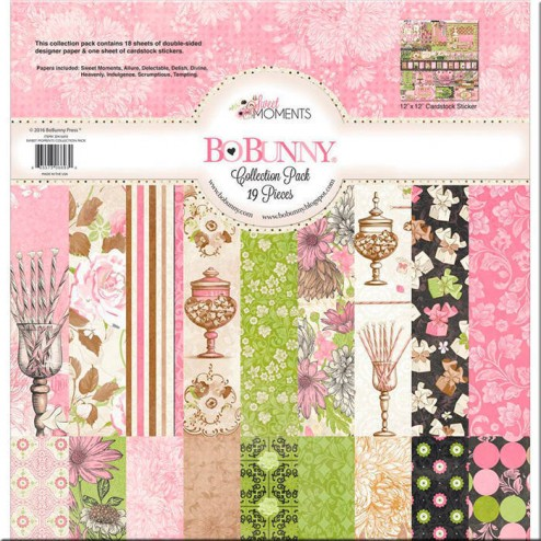 Set Papeles y Adhesivos Sweet Moments BoBunny