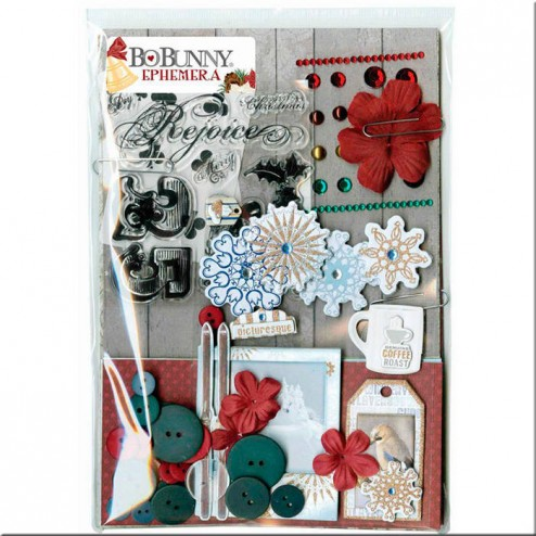 Set Complementos Ephemera Tis the Season BoBunny