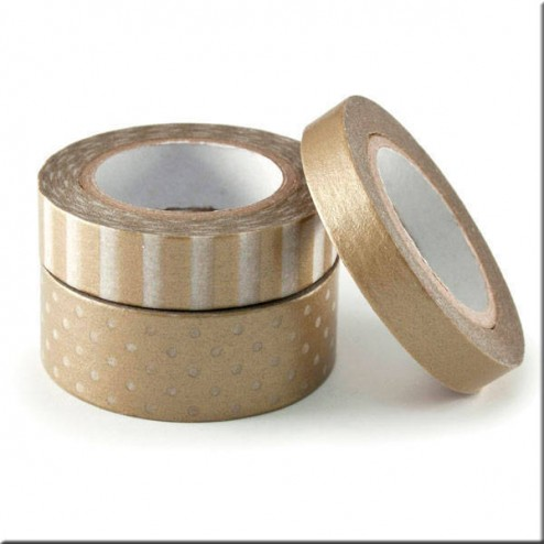 3 Washi Tape Oro - We R Memory Keepers
