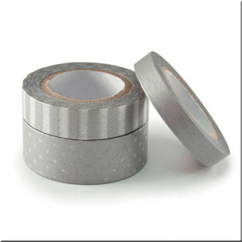 3 Washi Tape Plata - We R Memory Keepers