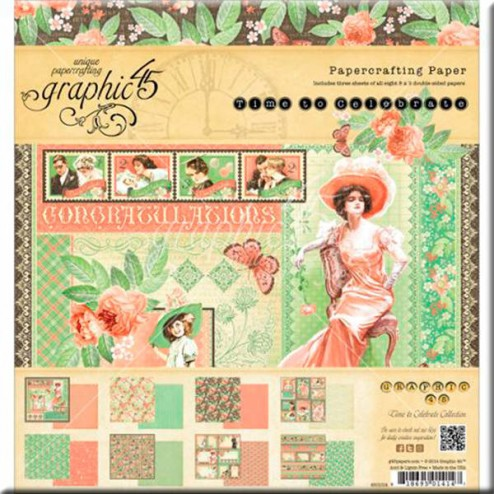 Papeles Scrapbooking - Time To Celebrate (20x20)