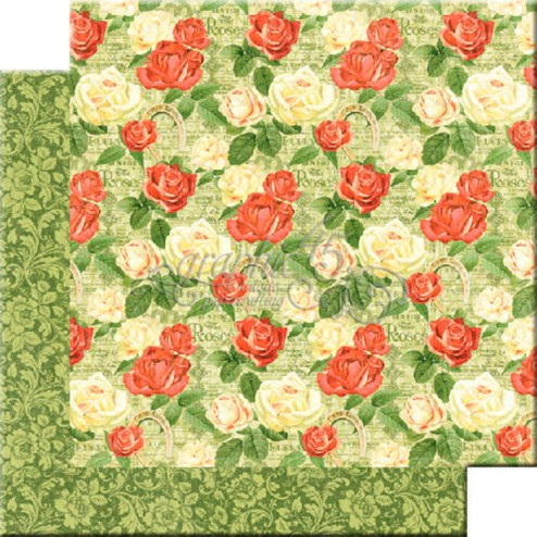Papel Scrap Run for the Roses (30x30) Off to the Races