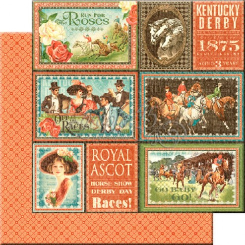 Papel Scrap Royal Ascot (30x30) Off to the Races