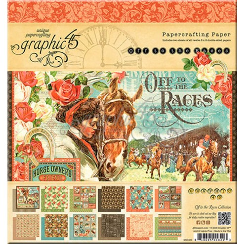 Papeles Scrapbooking Off to the Races (20x20)
