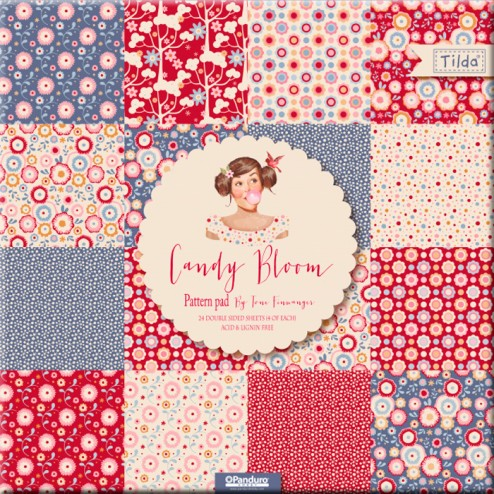 Papeles Scrapbooking Candy Bloom (30x30) Tilda